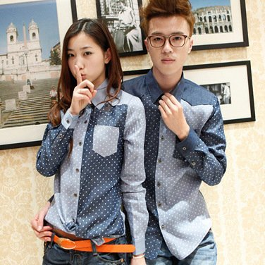 Blue Button Down Couple